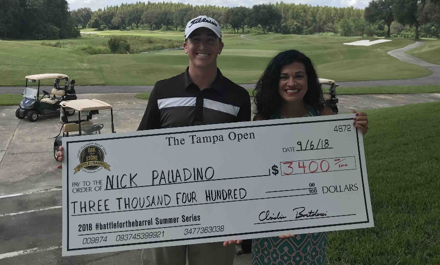 PALLADINO Wins at Innisbrook, Moves to 1st on the Money List!